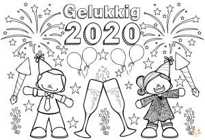 Sinterklaas Kleurplaat Vll Blockposter Kleurplaat Gelukkig 2020 Jufbijtje Nl